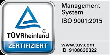 Zertifizierung ISO 9001:2015 Management System